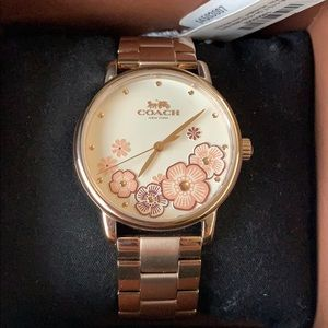 NEW Coach Women's Grand Floral Watch - Rose Gold